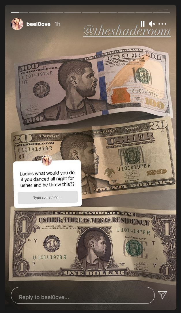 Usher reportedly made it rain in the club with fake money and Twitter has a  lot to say